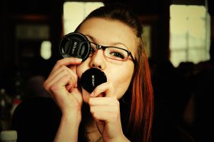 Nastya loves Nikon by LinkyQ