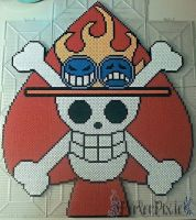 Portgas D. Ace's Jolly Roger by PerlerPixie