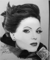Lana Parrilla_Regina_Evil Queen_draw, black pe by IrtyBarber
