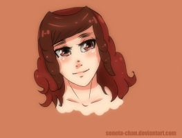 Red lady...happiness tears. by Sonota-chan