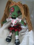 Custom Zombie School Girl by dollmaker88