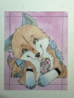 ACEO alphawolfkodijr by VictoriWind