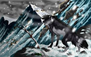 Wusky loner by HunterDarkWolf