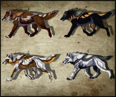 ADOPTABLES CLOSE by WolfRoad
