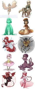 Monster Girls 1-10 by CubeWatermelon