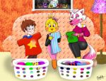 Folding cloths with Mama :Contest: by bluelun
