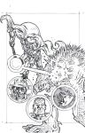 Kurt Belcher's World Anthology 2 Cover Pencils by KurtBelcher1