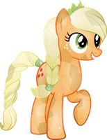 Crystal Applejack vector by Collie221
