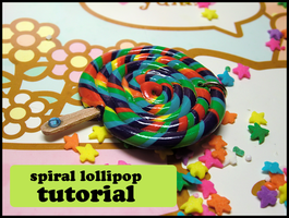 Spiral Lollipop Clay Tutorial by GrandmaThunderpants