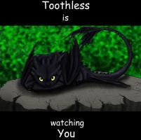 Toothless is watching you by MysticGaia