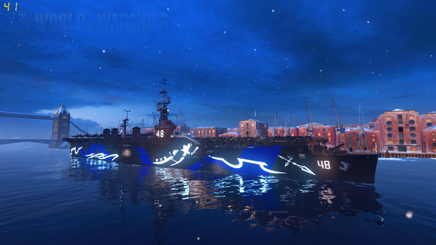 WoWS Fleet of Fog USS Saipan by Scattergunsniper
