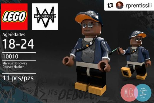 Marcus Holloway Lego by twitte0king