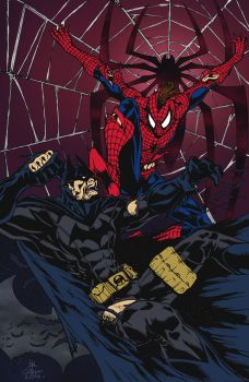 Batman vs. Spider-Man by geniuspen by edCOM02