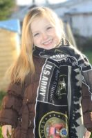 Army Fleece Support Troups Scarf by PrimmRose