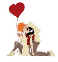 My Valentine Ichiruki by burnedbacon