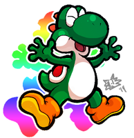 Mario Party - Yoshi by The-Pirate-Fox