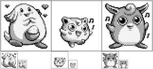 PKMN 1st Gen Chansey - Jiggly - Wiggly by angelishi