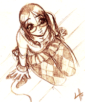 She Has Glasses by Laurielle-Maven