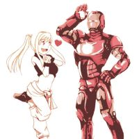 Iron Man and Winry Rockbell by DevintheCool