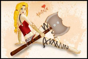 Viking Vixens - Astrid Pinup by ch4rms