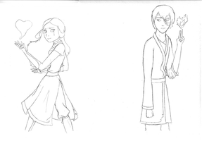 Hopeless Zutara - Not Colored by thestoryweaver