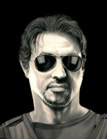 Sylvester Stallone - Barney Ross by TheNightGallery