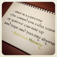 Instagram - Seamus Heaney - Hope and History by MShades