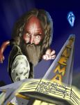 Caricature of Alan Moore by SKumpf