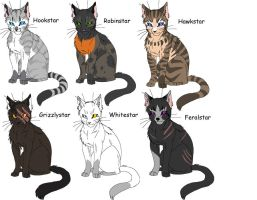 Warrior cats adoptabes by ScourgeTiny123