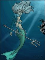 Underwater Queen fullcolored by Loulyarts
