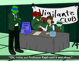 TMNT-U Club Fair: Busted by TMNT-Raph-fan