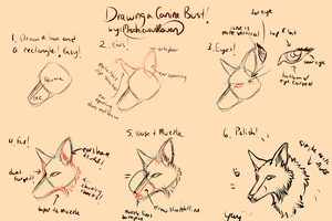 Super Duper 10 minute Canine Bust Tutorial by MischievousRaven