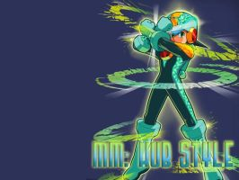Wallpaper - MegaMan Hub Style by Shadows-Entity