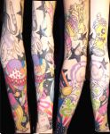 cindy's sleeve by justicetattoos