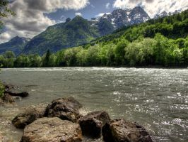 The Banks Of River Salzach by Burtn