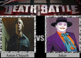 Anton Chigurh vs. Joker by JasonPictures
