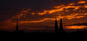 over the roofs of luebeck by antarialus