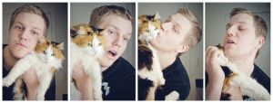 Me and my sister's cat by Martinoice
