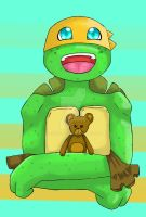 Turtle Tot Mikey! by LaunaWolf