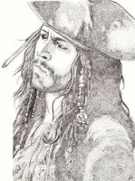 Jack Sparrow - Stipple Style by yaoigal