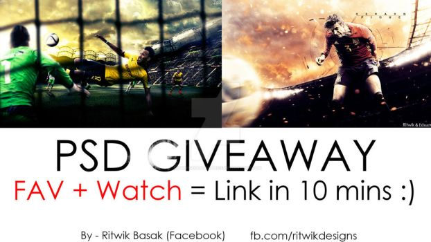2nd PSD Giveaway | Football Designs by RitwikBasakGraphics