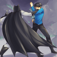Batman vs Spock by KotoriK