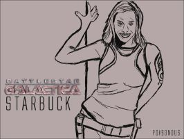 Starbuck Drawing by PZNS