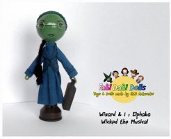 elphaba peg doll by tombirrellart