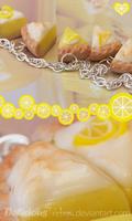 Lemon Meringue Pie Bracelet by DeliciousTrickery