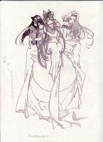 Urd, Skuld and Bellandy by jeky91