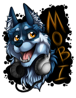 Commish : Mobi Husky Badge by WeirdHyenas