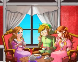 Tea Time of the Three by doramsc