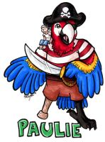 Paulie the Pirate Badge by hollyann