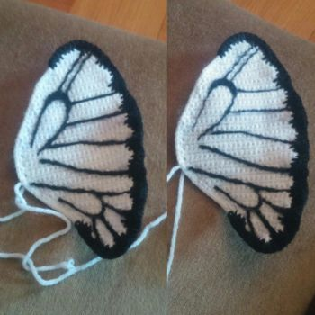 Butterfree wing progress by Wykked-As-Syn
